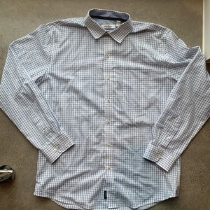 Van Heusen blue check button up slim fit